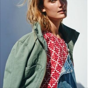 Madewell Province Top In Ikat Bloom Red